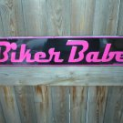 BIKER BABE ALUMINUM SIGN METAL RETRO ADV AD SIGNS B