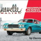 CHEVELLE MALIBU 350 TIN SIGN METAL RETRO ADV SIGNS C