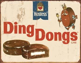 HOSTESS DING DONGS TIN SIGN METAL RETRO ADV SIGNS H