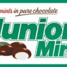 JUNIOR MINTS TIN SIGN METAL RETRO ADV SIGNS J