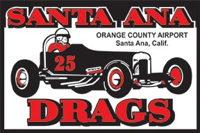 SANTA ANA DRAGS SIGN RETRO STEEL SIGNPAST SIGNS