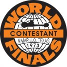 WORLD CONTESTANT FINALS 1973 STEEL SIGNPAST SIGN