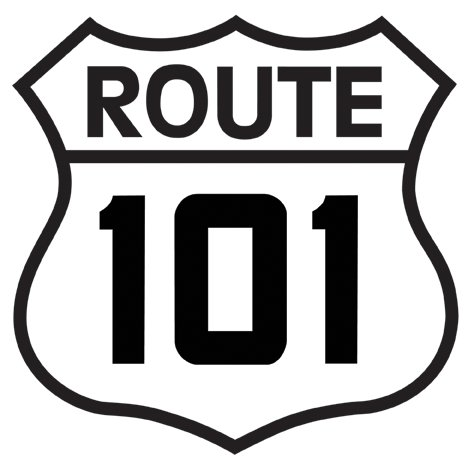 ROUTE 101 STEEL SIGN RETRO METAL SIGNPAST SIGNS