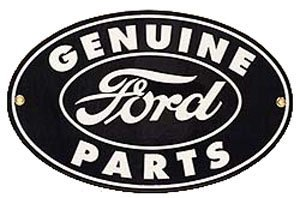OVAL GENUINE FORD PARTS SIGN