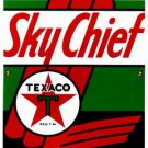 TEXACO SKYCHIEF GAS PUMP PLATE ADV SIGN T