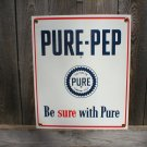PURE-PEP PORCELAIN-COATED ADV SIGN P