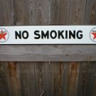 TEXACO NO SMOKING PORCELAIN-COATED SIGN T