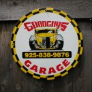 GOODGUYS GARAGE PORCELAIN-COATED ADV SIGN M