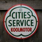 CITIES SERVICE PORCELAIN-COATED RETRO ADV SIGN P