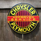 CHRYSLER PLYMOUTH PORCELAIN-COATED RETRO ADV SIGN C
