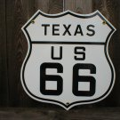 ROUTE 66 TEXAS PORCELAIN-COATED SHIELD SIGN T