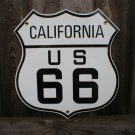 ROUTE 66 CALIFORNIA PORCELAIN-COATED SHIELD SIGN C