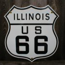 ROUTE 66 ILLINOIS PORCELAIN-COATED SHIELD SIGN I