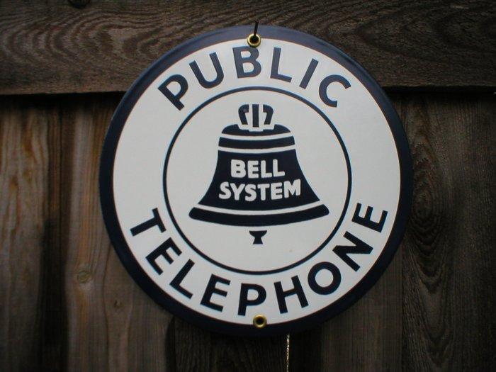 PUBLIC TELEPHONE PORCELAIN-COATED SIGN C