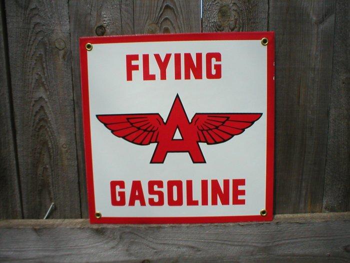 FLYING A PORCELAIN-COATED SIGN F
