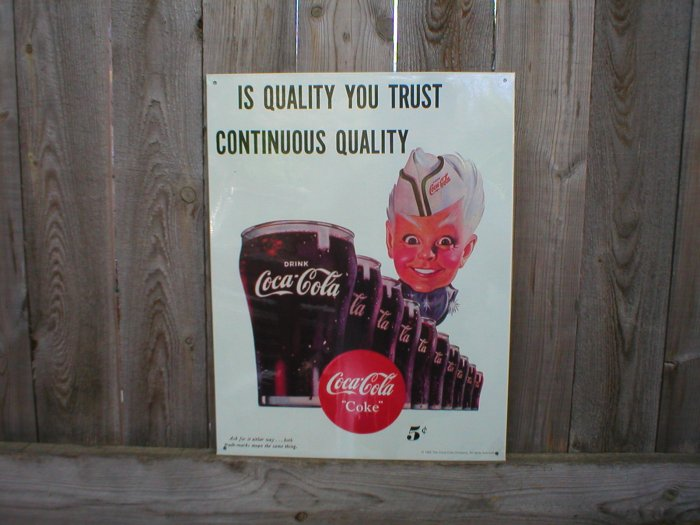 SPRITE BOY COCA-COLA TIN SIGN COKE ADV BAR STORE SIGNS C