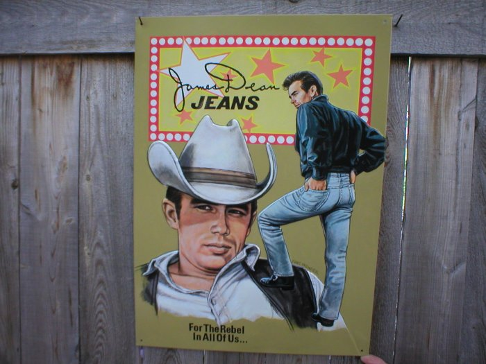 JAMES DEAN TIN SIGN COKE ADV BAR STORE SIGNS C