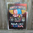 AMERICAN HERITAGE MADE IN THE USA MOTORCYCLE SIGN