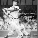 TED WILLIAMS BASEBALL TIN  SIGN METAL ADV SIGNS W