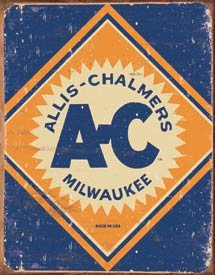 ALLIS CHALMERS LOGO TIN SIGN METAL ADV AD SIGNS A