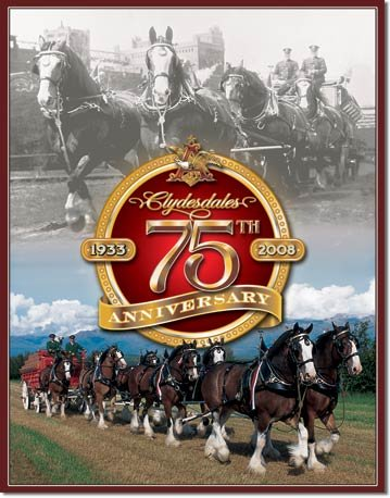 BUDWEISER CLYDESDALES TIN SIGN METAL ADV SIGNS