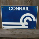 CONRAIL PORCELAIN-COATED RAILROAD SIGN C