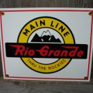 RIO GRANDE PORCELAIN-COATED RAILROAD SIGN C