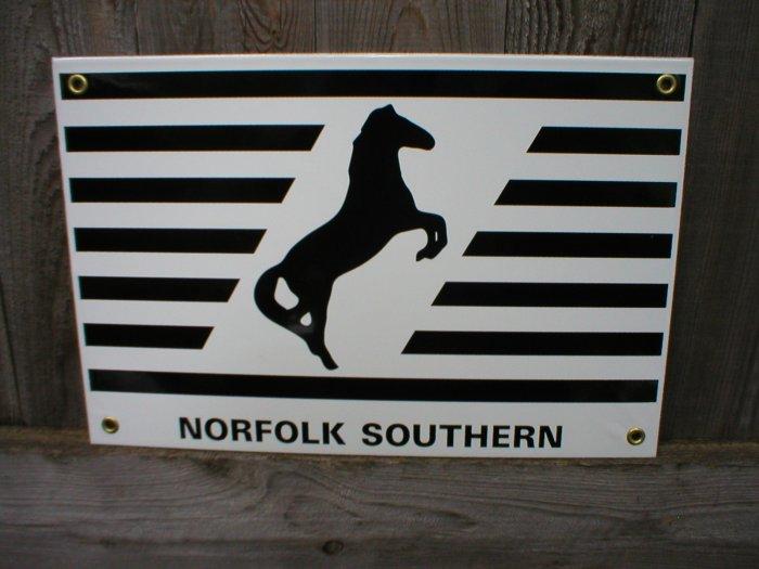 NORFOLK SOUTHERN PORCELAIN-COATED RAILROAD SIGN C