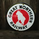 GREAT NORTHERN RAILWAY PORCELAIN-COATED RAILROAD SIGN A