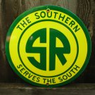 SOUTHERN RAILROAD PORCELAIN-COATED ADV SIGN S