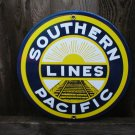 SOUTHERN PACIFIC LINES PORCELAIN-COATED ADV SIGN S
