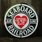 SEABOARD RAILROAD PORCELAIN-COATED RAILROAD ADV SIGN S
