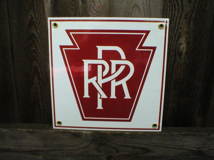 PRR PORCELAIN-COATED RAILROAD SIGN S