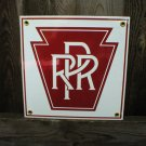 PRR PORCELAIN-COATED RAILROAD SIGN S
