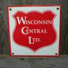 WISCONSIN CENTRAL LTD PORCELAIN-COATED RAILROAD SIGN S