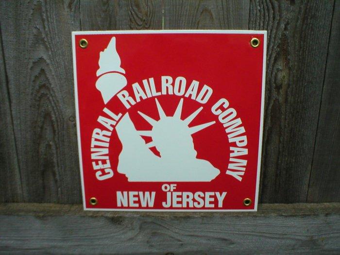 CENTRAL RAILROAD COMPANY PORCELAIN-COATED RAILROAD SIGN S
