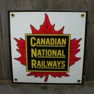 CANADIAN NATIONAL RAILWAYS PORCELAIN-COATED RAILROAD SIGN S