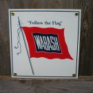 WABASH PORCELAIN-COATED RAILROAD SIGN S