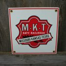 M-K-T KATY RAILROAD PORCELAIN-COATED RAILROAD SIGN S