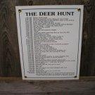 THE DEER HUNT PORCELAIN-COATED SIGN D