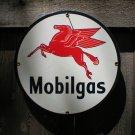 MOBILGAS PEGASUS PORCELAIN COAT SIGN GAS FILLING STATION DECOR