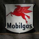MOBILGAS SHIELD PORCELAIN COAT SIGN