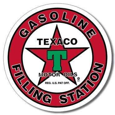 TEXACO FILLING STATION TIN SIGN METAL ADV SIGNS T