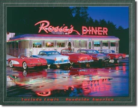 ROSIE'S DINER  CAR TIN SIGN METAL CORVETTE SIGNS C