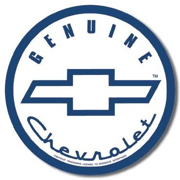 GENUINE CHEVROLET TIN SIGN METAL ADV SIGNS C