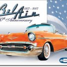 57 CHEVROLET BEL AIR TIN SIGN METAL ADV RETRO SIGNS M
