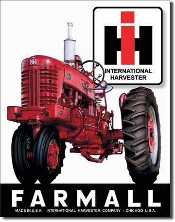 IH RED FARMALL 400 TRACTOR SIGN INTERNATIONAL FARM SIGNS I