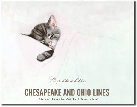CHESAPEAKE & OHIO LINES TIN SIGN METAL ADV RETRO SIGNS M