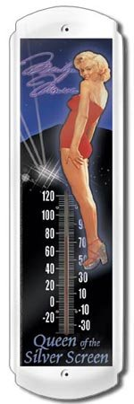 MARILYN MONROE THERMOMETER SIGN METAL ADV SIGNS H