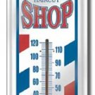 BARBER SHOP THERMOMETER SIGN METAL ADV SIGNS H